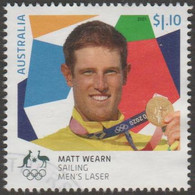 AUSTRALIA - USED 2021 $1.10 Tokyo Olympic Gold Medal Winners: Sailing: Men's Laser - Used Stamps