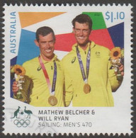 AUSTRALIA - USED 2021 $1.10 Tokyo Olympic Gold Medal Winners: Sailing: Men's 470 - Used Stamps