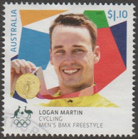 AUSTRALIA - USED 2021 $1.10 Tokyo Olympic Gold Medal Winners: Cycling: Men's BMX Freestyle - Used Stamps