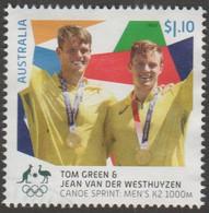 AUSTRALIA - USED 2021 $1.10 Tokyo Olympic Gold Medal Winners: Canoe Sprint: Men's K2 1000M - Used Stamps