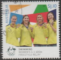 AUSTRALIA - USED 2021 $1.10 Tokyo Olympic Gold Medal Winners: Swimming Women's 4x100M Freestyle Relay - Used Stamps