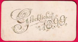 Prägekarte, Glückliches 1899 - New Year