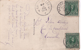 VII OLYMPIADE 1920  TP Surtaxe 179 (2) Obl TRAZEGNIES 17 VIII 1920 Vers COURCELLES  Tarif Juste - Covers & Documents