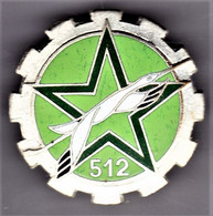 GT 512. 512° Groupe De Transport. Plat, émail Grand Feu. D.228. - Army