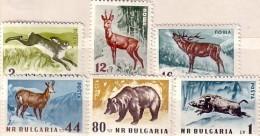 1958  ANIMALS - GAME   6v.-MNH  Perforate  BULGARIA  / Bulgarie - Nuovi