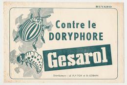 Buvard 24 X 16 GESAROL Contre Le Doryphore Distributeurs: Le Fly-Tox Et St.-Gobain - Farm