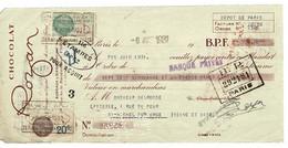 FACTURE-COURRIER- LETTRE : Traite CHOCOLAT ROZAN , Année 1931 . - 1900 – 1949