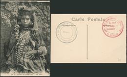 """Carte Postale - Femme Des Ouled-Naïls (ND Phot., N°206) / Cachet Militaire Maroc """"121° Régiment Territorial / 2e Bataill - Otros"""