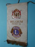 "BELGIUM "" District 112 "" 1972-73 Charles Callebaut > LIONS International ( Ancien / Old > FANION > Wimpel > Pennant ) - Organizations"