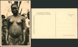 Carte Photo (Congo Belge, C. Zagourski) : L'afrique Qui Disparait N°35 Bangala De L'équateur, Scarifications, Seins Nus - Congo Belga - Otros