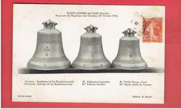 SAINT COSME DE VAIR 1912 SOUVENIR DU BAPTEME DES CLOCHES 29 FEVRIER 1912 CARTE EN TRES BON ETAT - Autres Communes