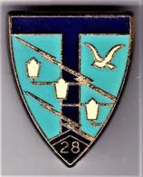 28° RT. 28° Régiment De Transmissions. Pichard.208. Attache Pin's. - Army