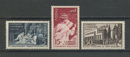 MAROC 1955 N° 339/341 ** Neufs MNH Superbes C 6.70 € Enseignement Franco Musulman Ecole Collège Moulay Idriss Fès - Nuevos