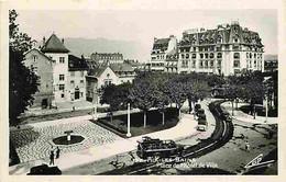 73 - Aix Les Bains - Place De L'Hotel De Ville - Animée - Automobiles - CPA - Voir Scans Recto-Verso - Aix Les Bains