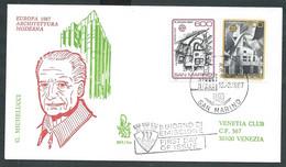 1987 SAN MARINO FDC VENETIA 265 EUROPA TIMBRO ARRIVO - FDC
