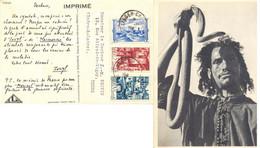 MAROC CARTE PUB IONYL Un Symbole, Ce Serpent Et Son Charmeur ! TàD TANGER-CHERIFIEN De 1949 - Covers & Documents