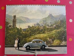 Calendrier Volkswagen 1962 (anglais, Français, Allemand). Coccinelle Van Car Karmann-ghia Vw1500 Cabriolet - Big : 1961-70