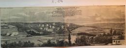 Cpa Panoramique Double, Militaria, Guerre Franco Allemande 1970-71 Bataille De Mouzon (Ardennes 08) - Altre Guerre