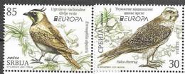 SERBIA, 2021, MNH, EUROPA, ENDANGERED WILDLIFE, BIRDS, 2v - 2021