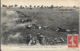 Manœuvres De COURTENAY.Section D' Infanterie En Tirailleurs Entre CHUELLES Et CHANTECOQ - Courtenay
