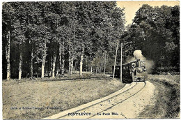 A2 Loir Et Cher 41 PONT LEVOY Près De La Gare  Le Tramway Du Loir Et Cher Ligne De BLOIS à MONTRICHARD 1922 TBE - Otros Municipios