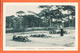 VaG233 ⭐ ARCACHON LE MOULLEAU (33) Préventorium ARMAINGAUD Leçon Culture Physique Les Rameurs 1930s LEO NEVEU 16 - Arcachon