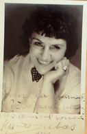"""DUBAS Marie (Studio Photo Véritable 62 Cpa) Vintage 1940 """"dédicace"""" - Famous People"""