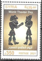 ART, 2021, MNH, WORLD THEATRE DAY, 1v - Teatro