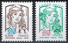 FRANCE 2018 - YT 5234/35 ** - Marianne Et La Jeunesse  - (TVP LV Tirage 2500 Feuilles) - 2013-... Marianne De Ciappa-Kawena