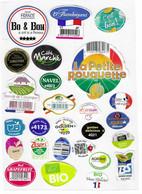 F55 - ETIQUETTES DE FRUITS - ( MELON - POMMES - KIWI- Etc..... ) - Fruits Et Légumes
