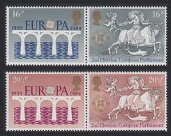25th Anniversary Of CEPT 2 Pairs 4v Great Britain 1984 MNH SG#1249-1252 SC#1053-1056 - Ponti