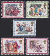 Christmas Carols 1982 5v Great Britain 1982 MNH SG#1202-1206 SC#1006-1010 - Musica