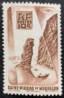FRPM0325MNH - Local Motives - 10 C MNH Stamp - Saint-Pierre Et Miquelon - 1947 -  YT PM 325 - Neufs