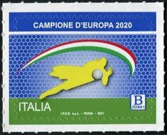 2021 - ITALIA / ITALY - L'ITALIA VINCITRICE DEI CAMPIONATI EUROPEI DI CALCIO 2020 / FOOTBALL EUROPEAN CHAMPIONS. MNH - 2011-20: Nieuw/plakker