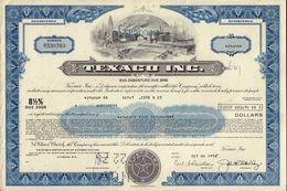 OIL / USA : Texaco Inc - USD 25,000.00 Old Certificate Dd 1970s - Petrolio