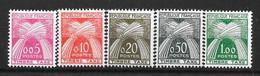 France : Taxes  N° 90 à 94 **  (cote 70,oo €)  TB - 1859-1955 Mint/hinged