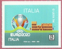 2021 - ITALIA / ITALY - CAMPIONATI EUROPEI DI CALCIO 2020 / EUROPEAN FOOTBALL CHAMPIONSHIPS 2020. MNH - 2011-20: Nieuw/plakker