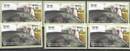 ISRAEL, 2020, MNH, ATM LABELS, COVID, TESTING FOR COVID, CARS,6v - Other