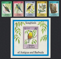 Towhee Warbler Wren Kinglet Flicker Chat Song Birds 5v+MS Antigua And Barbuda 1984 MNH SG#869-MS874 MI#Block 81 - Uccelli Canterini Ed Arboricoli