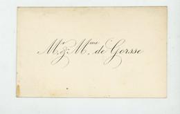 Mr & Mme DE GORSSE - - Cartes De Visite