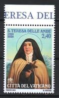 Vatican 2020. 100th Birthday Of Saint Teresa Della Andes, MNH** - Ungebraucht