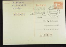 """DDR: Gs-Karte Mit 10 Pf Palast Der Republik (Klein) W-St: """"KASKO - Finanzielle Sicherheit"""" Vom 16.1.90 Knr: 2484 - Privatpostkarten - Gebraucht"""