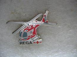 Pin's Hélicoptère Médical De La REGA (Suisse) - Avions