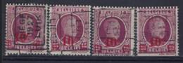 Houyoux Nr. 246 Voorafgestempeld Nr. 4059 A + B + C + D  LIEGE  1927  LUIK , Staat Zie Scan ! RRR - Rolstempels 1920-29
