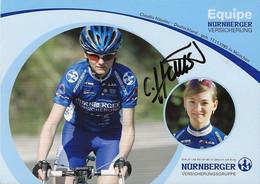 CARTE DU CYCLISME, CLAUDIA HAUSSLER SIGNEE WOMEN'S TEAM NURNBERGER 2006 - Ciclismo