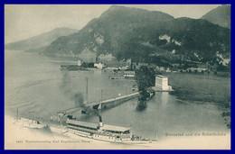 Stansstad Und Die Acherbrücke - Péniche - Bateau - Edit. KARL ENGELBERGER - Oblit. HERGISWIL 1911 - NW Nidwalden