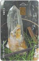 Cuba - Etecsa (Chip) - Minerales De Cuba - Rock Crystal, 11.2004, 5$, 15.000ex, Used - Cuba