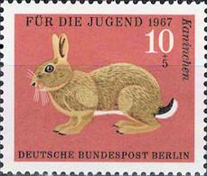 5303 Mi.Nr. 299 Berlin (1967) Pelztiere Ungebraucht - Nuevos