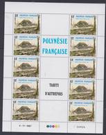 Polynésie N° 299 / 301 F XX  Tahiti D'autrefois ( III ), Les 3 Feuilles De 10 Timbres, Sans Charnière, TB - Nuovi