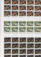 Polynésie N° 275 / 77  F XX , Faune Marine : Crutacés Les 3  Feuilles De 25 Timbres, Sans Charnière, TB - Nuovi